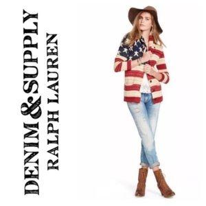 🇺🇸Ralph Lauren Denim & Supply flag cardigan L